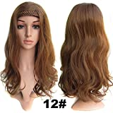 "2015 Hot Sale New Curly Hair Wigs Double Braided Topknot Semi Nested Wig Tablets / High Temperature Fiber Clip in Hair Half Piece 22"" (12#)"
