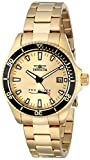 "Invicta Womens 15138SYB ""Pro Diver"" 18k Gold Ion-Plated Dive Watch"