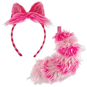Disney Cheshire Cat Ear and Tail Set Costume Accessory Kit