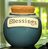 Tumbleweed 'Blessings' Ceramic Money Jar with Lid