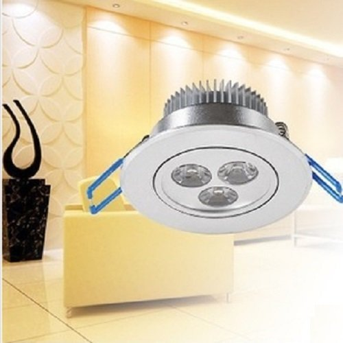 Coffled® 1Pcs 3W Led Bright Warm White Led Power Ceiling Downlight Panel Spot Kitchen Lamp
