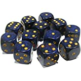 Custom & Unique {Standard Medium 16mm} 12 Ct Dozen Pack Set Of 6 Sided [D6] Square Cube Shape Playing & Game Dice... - B01AOL3NEY