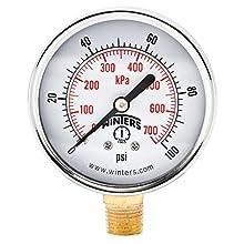 Winters PEM Series Steel Dual Scale Economy Pressure Gauge