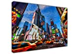 NEW LARGE CANVAS PRINTS WALL ART CITY VIEW NEW YORK TIMES SQUARE SPEEDING VEHICLES OIL PAINTING REPRINT LANDSCAPE CITYSCAPE - PHOTO PRINT PICTURE GREAT DECORATION FOR THE HOME / SIZE: A2 - 16