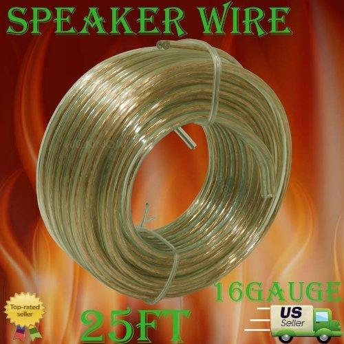 Wennow® 25 Ft 16 Gauge Speaker Wire