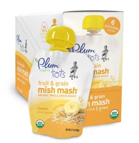 Plum Organics Mish Mash Banana Rice And Quinoa, 3.17-Ounce Pouches (Pack Of 12)