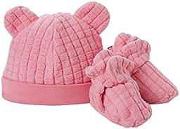 Zutano Baby Girls\' Cozie Fleece Hat and Bootie Set (Baby) - Hot Pink - 6 Months