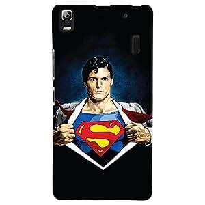 ColourCrust Lenovo A7000 Mobile Phone Back Cover With Superman - Durable Matte Finish Hard Plastic Slim Case