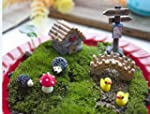 Mossfairy 8pcs Miniature Fairy Garden...