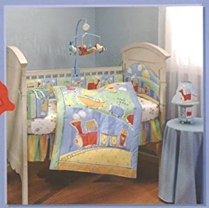 Delux Toot Toot Train Airplane Ship Baby Crib