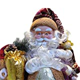 35cm Christmas Sitting Santa Claus Doll Figurine Toy Home Room Ornament Decoration Decor gift