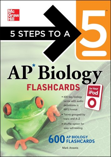 5 Steps to a 5 AP Biology Flashcards for Your iPod with MP3/CD-ROM Disk (5 Steps to a 5 on the Advanced Placement Examinations Series), Mark Anestis