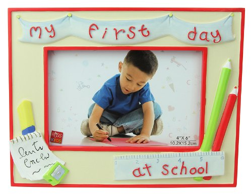 "Russ Berrie My First Day At School 4"" x 6"" Photo Frame (Discontinued by Manufacturer)"