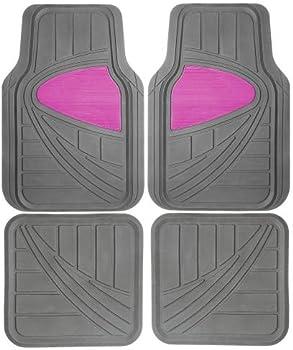 4-Piece Pilot Rubber Pink Floor Mats