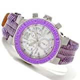Invicta Womens Reserve Ocean Reef Swiss Made Chronograph Diamond Accented Purple Watch 10728