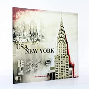 Toilemania cadre toile tableau peinture usa new york for Tableau toile new york