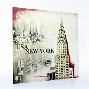Toilemania cadre toile tableau peinture usa new york broadway cui - Tableau new york castorama ...