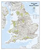 England and Wales Classic [Tubed] (National Geographic Reference Map)