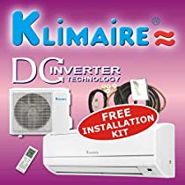 Klimaire 12000 Btu 16 SEER Inverter Mini Split Ductless a/c Air Conditioner & Heat Pump 220v with Free Installation Kit