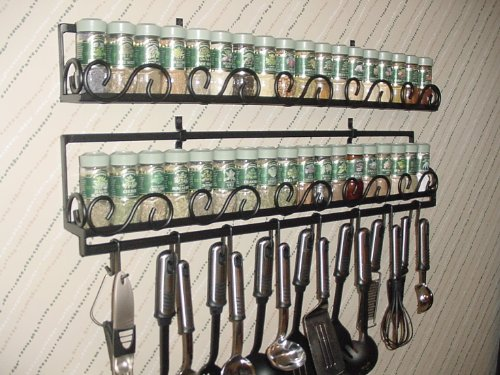 Cheap Wall Spice & Lid Rack With Round Scroll Front & Optional Pot Rail from Joanne (wsrrs)