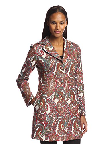 Bigio Women's Long Paisley Print Jacket