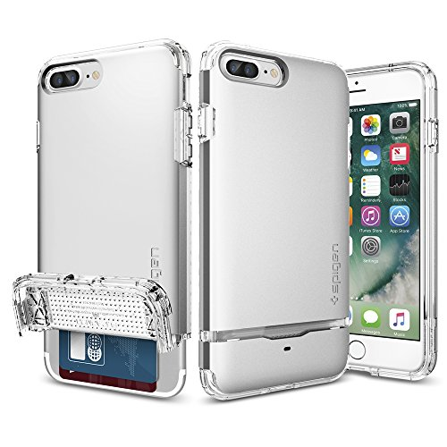 iPhone-7-Plus-Case-Spigen-Flip-Armor-Card-Holder-Satin-Silver-Slim-Fit-Dual-Layer-Protective-with-Card-Holder-Case-for-Apple-iPhone-7-Plus-043CS20822