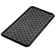 Extra Weave USA Cross Check Pattern Boot Tray, 100% Natural Rubber, Black, 32 by 16-Inches