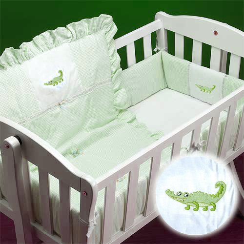Alligator Baby Bedding 6713 front