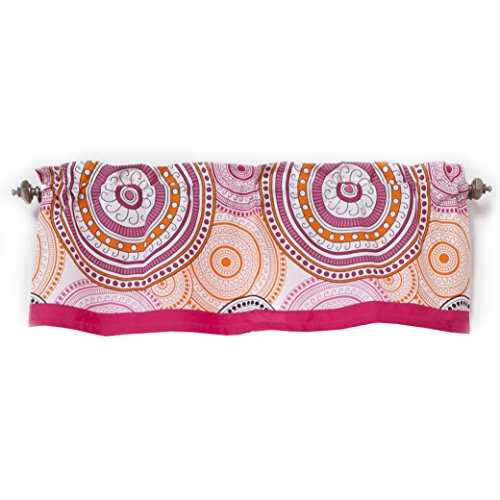 One Grace Place Sophia Lolita Valance, White, Pink, Berry, Orange, Black - 1
