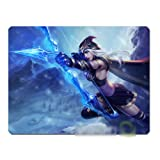 Ting League of Legends Heros The Frost Archer Ashe Mouse Mat Pad (L(300x250x5mm))