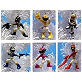 "Set of 6 Power Ranger Megaforce 2"" Ornaments Featuring, Red Ranger Dragon Zord Master, Black Ranger Snake Zord Master, Yellow Ranger Tiger Zord Master, Blue Ranger Shark Zord Master, Pink Ranger Phoenix Zord Master and Robo Knight Lion Zord Master"