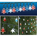 Solar Patriotic Star String Lights Star