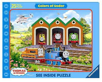 Thomas and Friends Colors Of Sodor See Inside Jigsaw Puzzle 25pc - 1