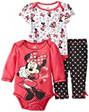 Disney Baby Baby-Girls Newborn Minnie Mouse Soft Fabric 3 Piece Set