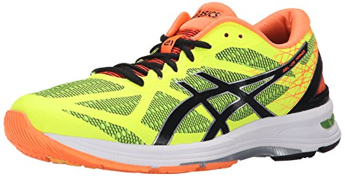 ASICS Men's GEL DS Trainer 21 Running Shoe, Flash Yellow/Black/Hot Orange, 11 M US