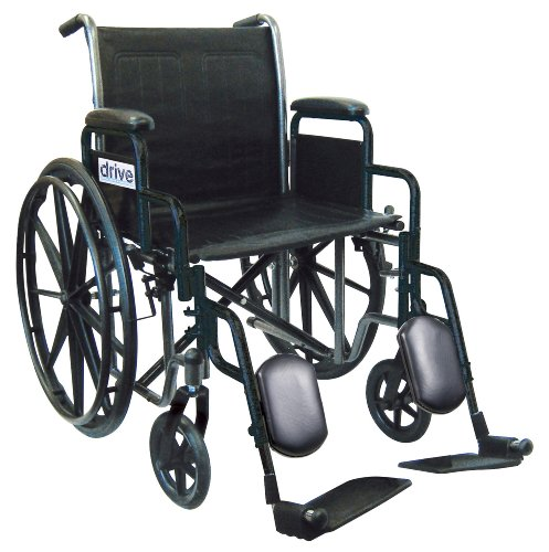 Silver Sport Wheelchair from Drive Medical with Removable Desk Arms, Swing Away Footrest