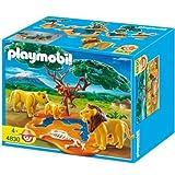 Playmobil - 4830 - Jeu de construction - Famille de lions avec singespar Playmobil