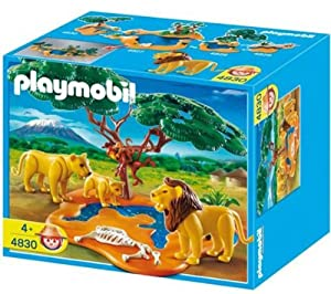 Amazon.com: Playmobil Lion Pride with Monkeys: Toys & Games