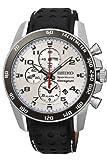 Seiko Sportura SNAF35P1 42mm Stainless Steel Case Black Calfskin Anti-Reflective Sapphire Men's Watch thumbnail