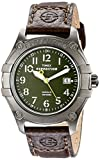 Timex Men's T49804 Expedition Trail Series Green Dial Brown Leather Strap Watch