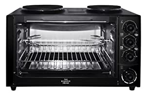 Countertop Oven Stove Combo : ... Oven-Stove Top Combo, Black: Electric Countertop Burners: Kitchen