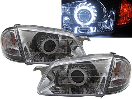 CrazyTheGod 323 BJ 1998-2000 Sedan/Wagon CCFL HID BI-Projector Headligh Headlamp CHROME for V3 X1C MAZDA LHD (Mazda 323 Headlamps compare prices)