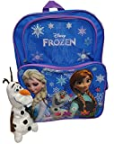 Disney Frozen Backpack - Happy Olaf with Elsa and Anna *includes exclusive Talking Olaf Plush*
