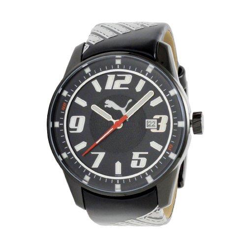 PUMA Women's PU101822002 Race Cat 3-Hand-Date Black Dial Watch