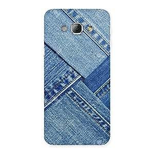 Impressive Denim Texture Print Back Case Cover for Galaxy A8