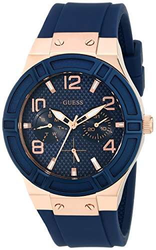 GUESS Women's U0571L1 Analog Quartz Blue