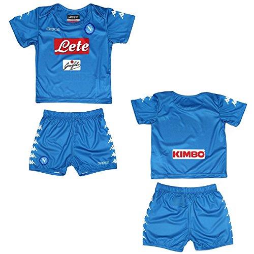 Napoli maglia pantaloncini home Baby neonato 2016/17 Kappa (18/24 mesi - 92 cm)