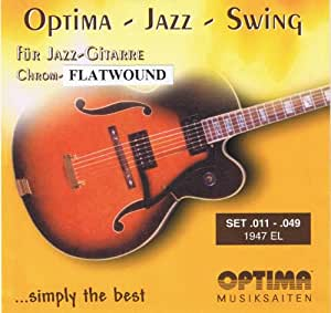 optima chrome flatwound electric guitar strings 011 049 musical instruments. Black Bedroom Furniture Sets. Home Design Ideas