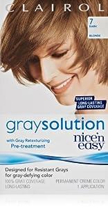 Clairol Gray Solution By Nice 'N Easy Hair Color 007 Dark Blonde 1 Kit (Pack of 3)