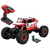 Top Race® Remote Control Rock Crawler, RC Monster Truck 4WD, Off Road Vehicle, 2.4Ghz Batteries Included (TR-130)